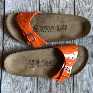 Birki's by Birkenstock orange slip on Sandal 38/7
